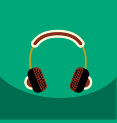 Flat icon design collection music vector
