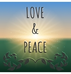 Love and peace boho style background vector image vector image