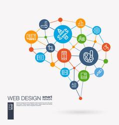 Web development seo website creating app design vector