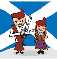 Welcome to Scotland people vector image