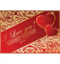abstract card with hearts vector image vector image