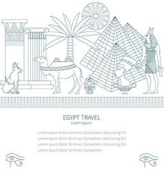 Ancient Egypt set travel vector image