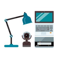 computer office equipment technic gadgets modern vector image