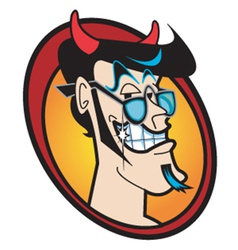 Face of the devil vector image