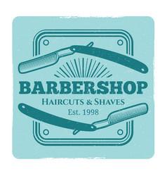 hairdressing salon or barbershop vintage label vector image