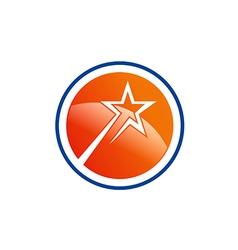 star shine abstract round logo vector image
