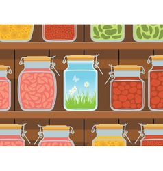 summer in the jar vector image