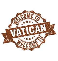 vatican round ribbon seal vector image vector image