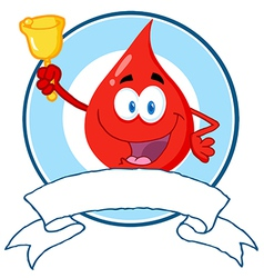 Blood Guy Ringing A Bell Over A Blank Banner vector image vector image