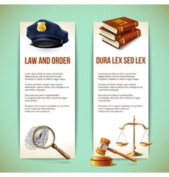 Law vertical banners vector image vector image