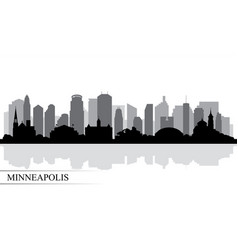 Minneapolis city skyline silhouette background vector