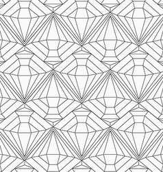 monochrome diamond seamless pattern vector image