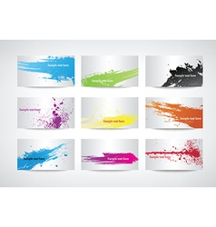 Paint splatter set vector image vector image