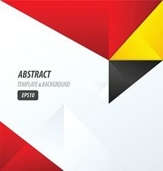 template triangle yellow black red vector image vector image