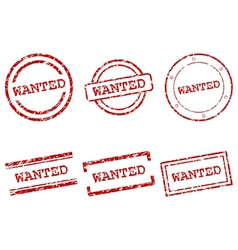 Wanted stamps vector image