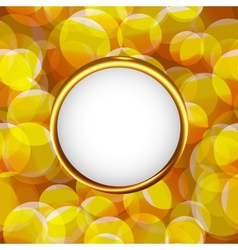 Yellow photo frame vector image vector image