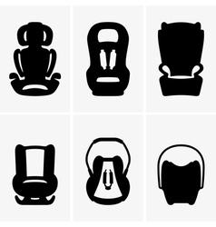 Baby car seats vector image
