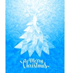 Christmas tree and Merry Christmas Lettering on vector image vector image