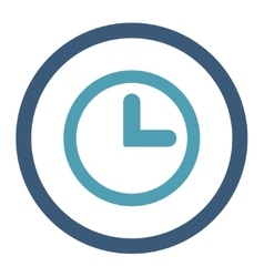 Clock flat cyan and blue colors rounded vector