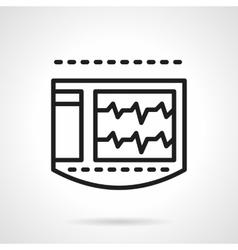 ECG monitor black line icon vector image