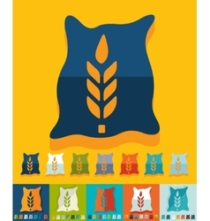 Flat design bag of grain vector image