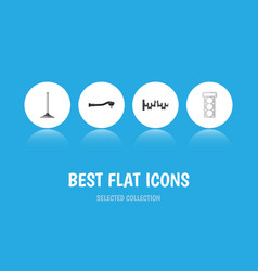 flat icon auto set of input technology steels vector image vector image