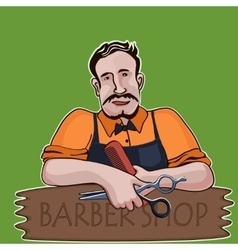 Hairstylist Barber shop theme vector image