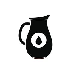 Honey crock black simple icon vector