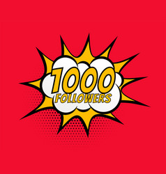 1000 social media followers network connection vector