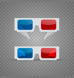 3d glasses object set vector