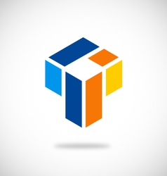 abstract geometry business logo vector image