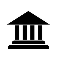 Account balance glyph icon vector