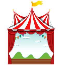 an isolated circus banner vector image
