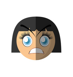 Angry emoticon cartoon design vector