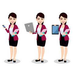 asian business woman in office clothes vector image