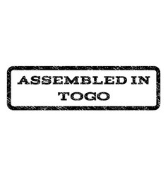 Assembled in togo watermark stamp vector