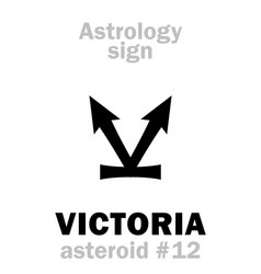 Astrology asteroid victoria vector