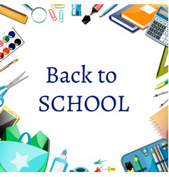 back to school poster design with icons vector image