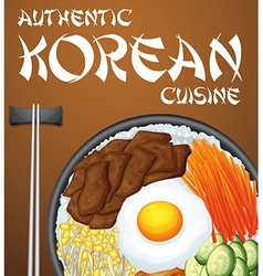 Bibimbap Korean vector image