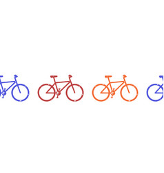bicycle seamless border horizontal bike vector image