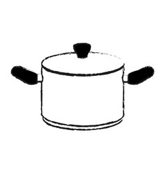Big cooking pot icon image vector