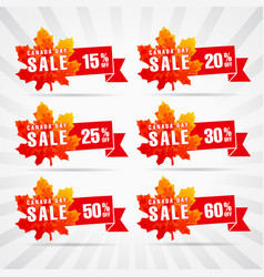 canada day sale vector image