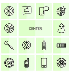 Center icons vector