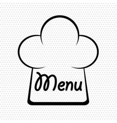 chef hat in menu design stock vector image