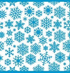 christmas background with blue snowflakes vector image