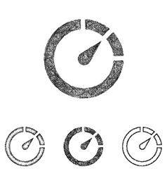 Chronometer icon set - sketch line art vector