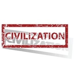 Civilization outlined stamp vector