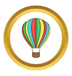 Colorful air balloon icon vector