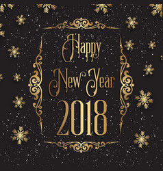 decorative happy new year background vector image