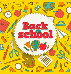 Education colorful background vector